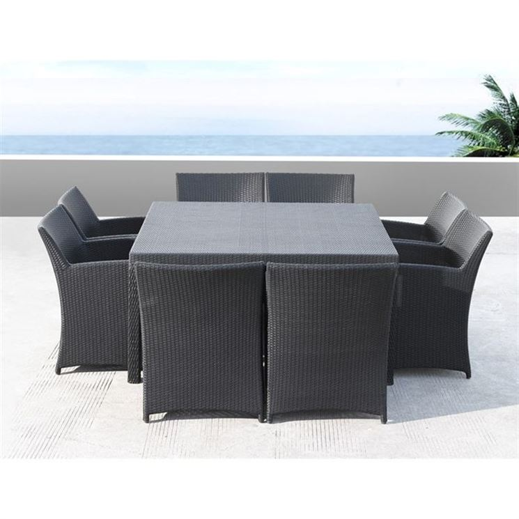 tavoli da giardino in rattan tavoli da giardino. Black Bedroom Furniture Sets. Home Design Ideas